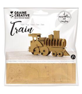 Maquette en Carton Train Graine Créative