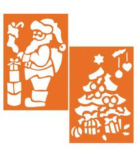Pochoir Géant Père-Noël et Sapin Graine Créative