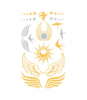 Tatouages temporaires Tattoo Chic Ange Or/Argent