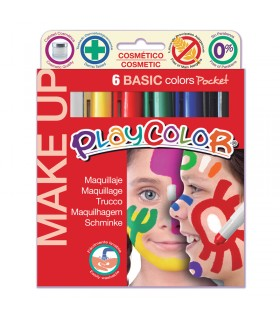 6 Sticks de maquillage Playcolor Make Up Basic