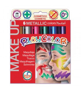 6 Sticks de maquillage Playcolor Make Up metallic