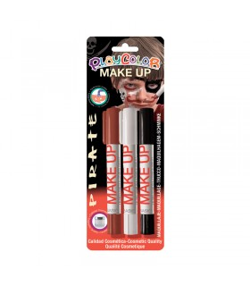 3 Sticks de maquillage Playcolor Make Up Pirate