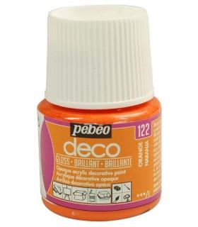 Peinture acrylique pébéo Déco 122 Orange brillant