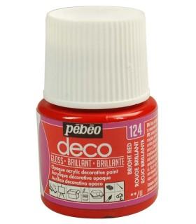 Peinture acrylique pébéo Déco 124 Rouge brillant