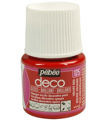 Peinture acrylique pébéo Déco 125 Rouge velours brillant