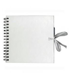 Album à spirales 20x20 Kraft blanc Artémio