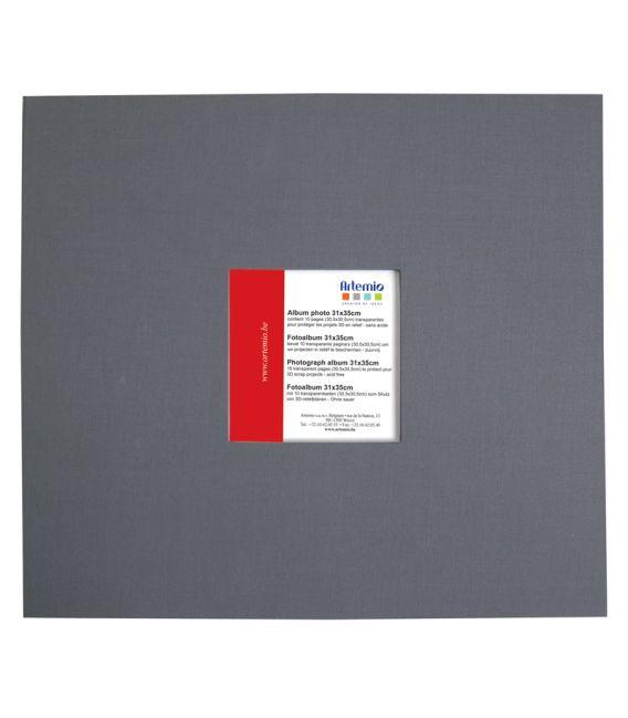 Album scrapbooking gris anthracite 31x35cm Artemio