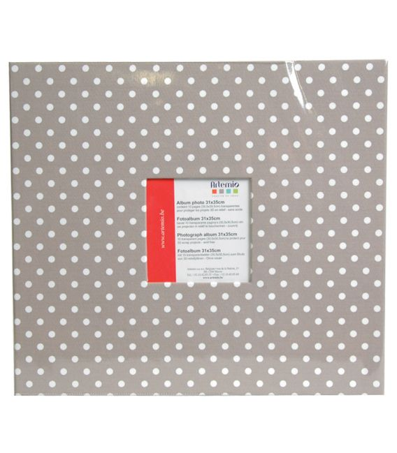 Album scrapbooking beige à pois blancs 31x35cm Artemio