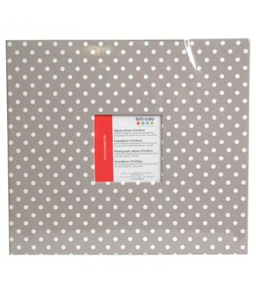 Album scrapbooking beige à pois blancs 35x31cm Artemio