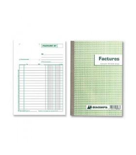 Facturier Exacompta Autocopiant 148X210MM 50 factures + 2 Duplicatas TVA