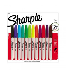 12 Marqueurs Permanents Sharpie