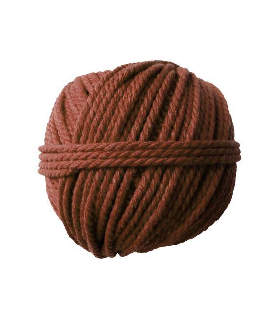 Pelote coton cable marron 165gØ2.5