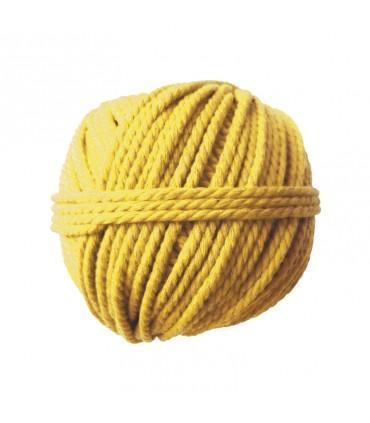 Pelote coton cable jaune soleil 165gØ2.5