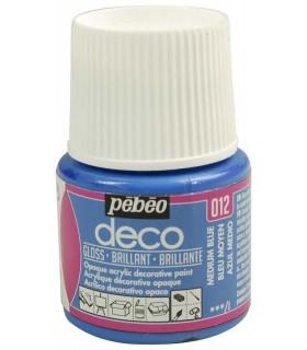 Peinture acrylique pébéo Déco 012 Bleu moyen brillant