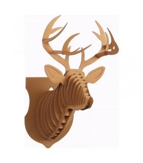 Trophée Renne en carton en carton 24.5x18x39 cm