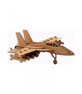 Maquette d'avion en carton 17.5x16.5x6 cm