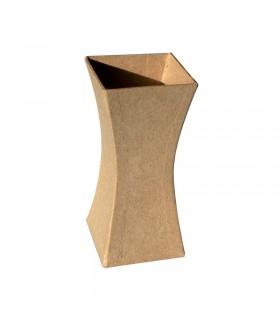 Vase en carton à base carré 12.3x5.6x5.6 cm
