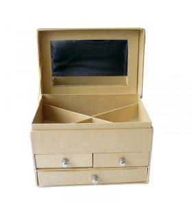 Boite à bijoux en carton 13x9x9 cm