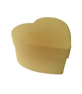 Boite coeur en carton 10.5x9.5x6 cm