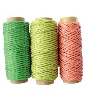 3 Bobines de fil de chanvre Forêt 1mmx20m Graine Créatif