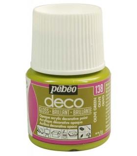 Peinture acrylique pébéo Déco 138 Olive brillant