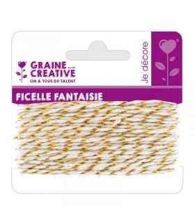Ficelle fantaisie Or 10m Graine Créative