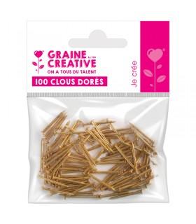 100 Clous dorés 20mm Graine Créative