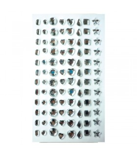 96 Strass pierres epoxy diamants 7mm Graine Créative