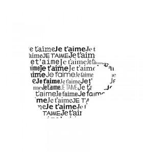 """Tampon en bois """"Tasse je t'aime"""" 4.5x4.6cm Artémio"""