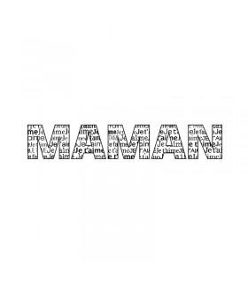 """Tampon en bois """"Maman je t'aime""""10x2.6cm Artémio"""