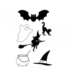 Tampons Clear Halloween Boo 9x14cm