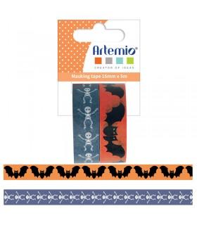 2 masking tape Chauve-souris squelette Arémio