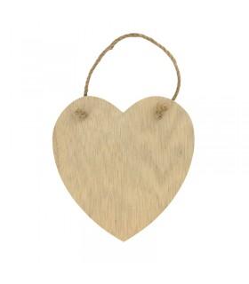 Coeur en bois à suspendre Artémio
