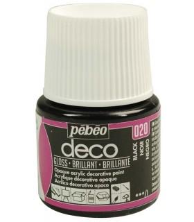 Peinture acrylique pébéo Déco 020 Noir brillant