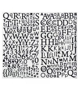 Stickers Alphabet pailleté noir