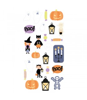 Stickers 3D Puffies Déguisement Halloween Artémio