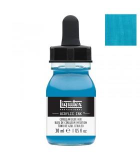 Encre acrylique Liquitex Ink Bleu de Céruléum imitation 30ml