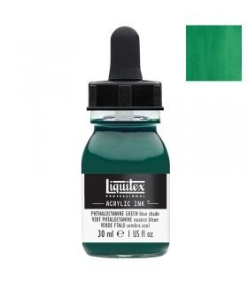 Encre acrylique Liquitex Ink Vert de phtalocyanine (nuance bleue) 30ml