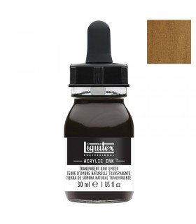 Encre acrylique Liquitex Ink Terre d'ombre naturelle transparente 30ml