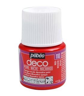 Peinture acrylique pébéo Déco 110 Rouge nacré