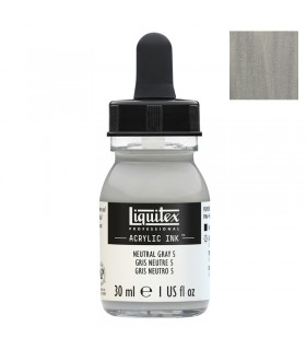Encre acrylique Liquitex Ink Gris neutre n°5 30ml
