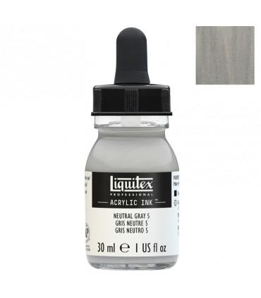 Encre acrylique Liquitex Ink Gris neutre n°5 30ml