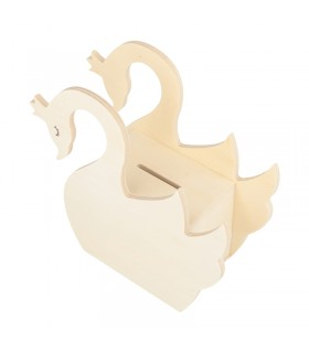 Tirelire cygne Lovely Swan en bois