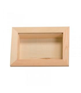 Cadre vitrine en bois 8x12 cm Artémio