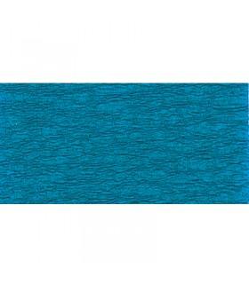 Papier crépon Bleu pétrol 2.5mx50cm Clairefontaine