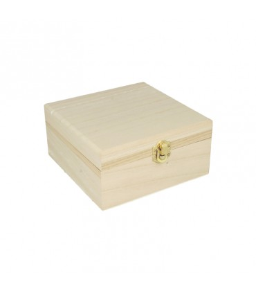 Boite à bijoux en bois 16x16x10cm Artémio