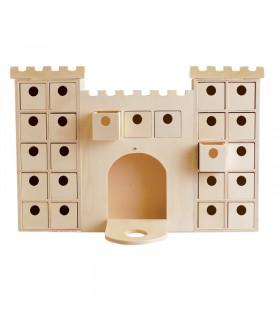 Calendrier de l'avent chateau en bois Artémio