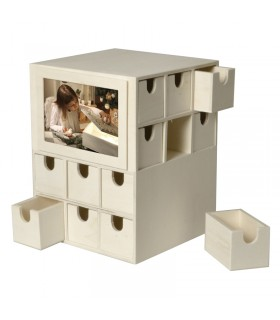 Calendrier de l'avent cube en bois Artémio