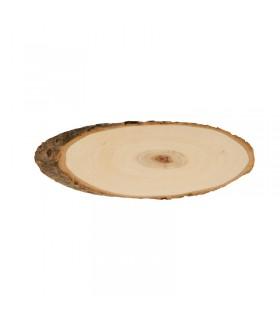 Planches de peuplier ovales 20-23cm 2pcs Artémio