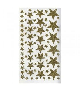 Stickers Étoiles or Pailletées Artémio